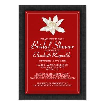black and red bridal shower invitations