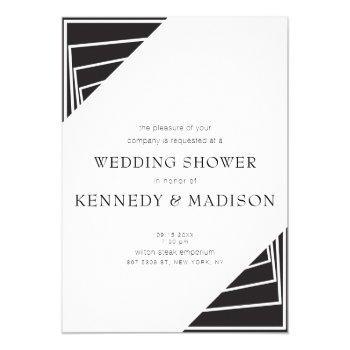 black and white geometric non-binary minimalist invitation