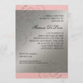 black tie elegance, bridal shower invitations