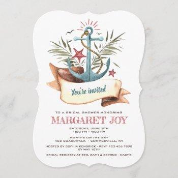 blue anchor invitation