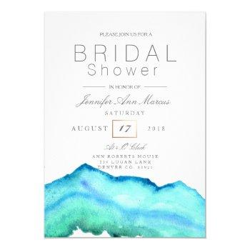 blue watercolor | bridal shower invitation