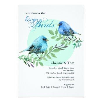 bluebirds on a branch invitation