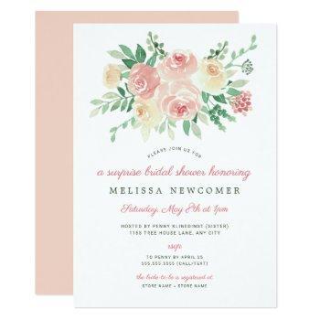 blush floral greenery bridal shower 4196 invitation