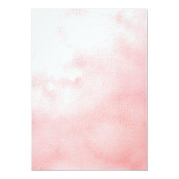Blush Pink Flowers Watercolor Bridal Brunch Invitation Front View