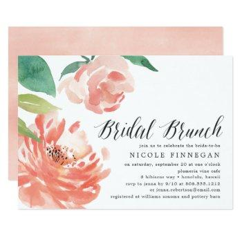 blushing peony | bridal brunch invitation