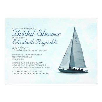 boat bridal shower invitations