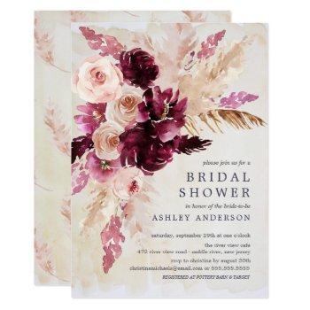 bohemian elegance bridal shower invitation