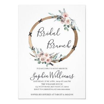 boho bridal brunch invitation