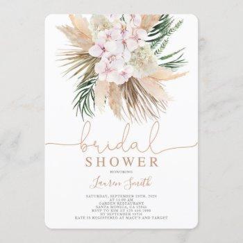 boho chic bridal shower invitation