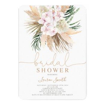 boho chic bridal shower invitation