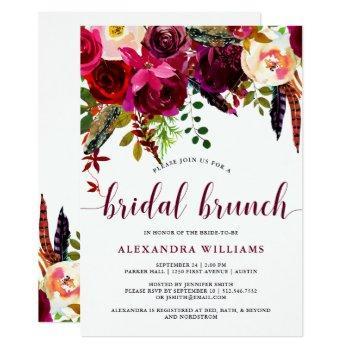 boho floral | bridal brunch invitation