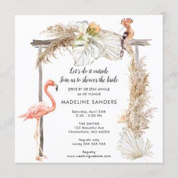 boho tropics outside bridal shower invitation