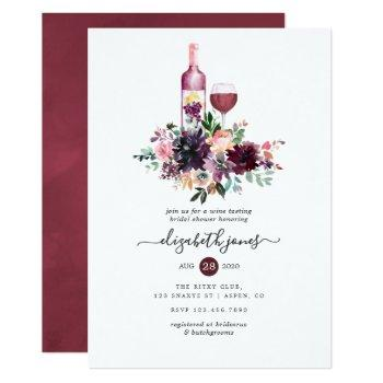 bordeaux wine tasting bridal shower invitation