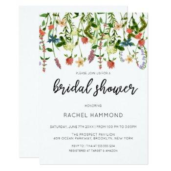botanical garden bridal shower invitation