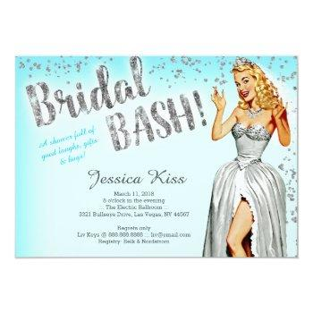 bridal bash vintage pinup bride bachelorette party invitation