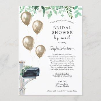 bridal long distance shower by mail invitation