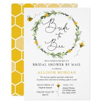 bridal shower by mail bride to bee invitation