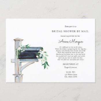bridal shower by mail greenery in mailbox invitation