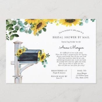 bridal shower by mail sunflowers in mailbox invitation
