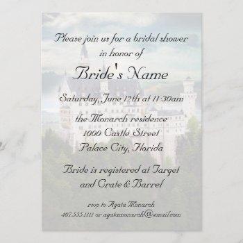 bridal shower, castle themed wedding invitation