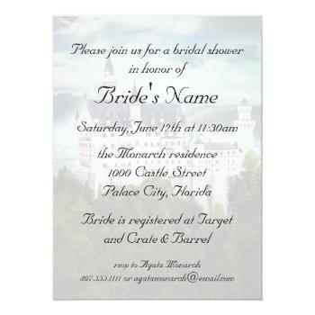 bridal shower, castle themed wedding invitation