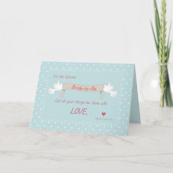 bridal shower doves, religious invitation