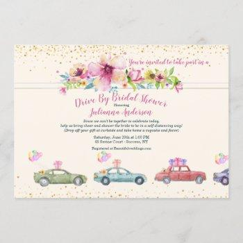 bridal shower drive by invitation