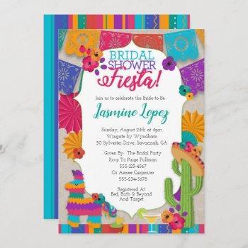bridal shower fiesta invitation