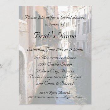 bridal shower for venetian theme wedding invitation