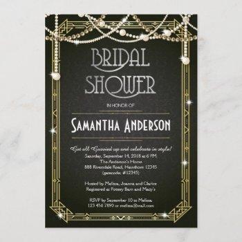 bridal shower invitation / art deco