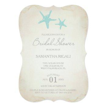 bridal shower invitation - beach starfish