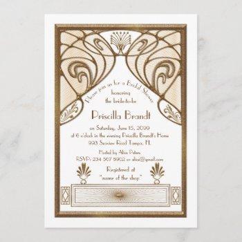 bridal shower invitation,great gatsby white gold invitation
