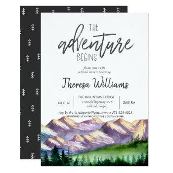 bridal shower invitation - mountain theme