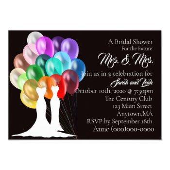 bridal shower invitation mrs & mrs