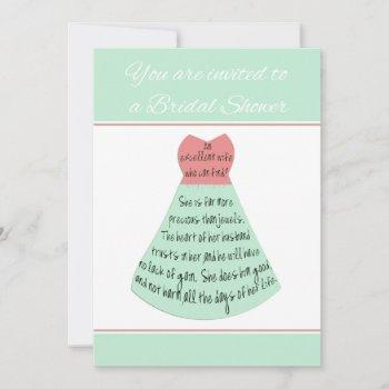 bridal shower invitation proverbs excellent wife