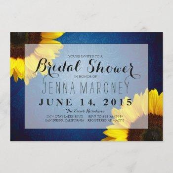 bridal shower invitation - sunflowers & blue jeans