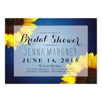 bridal shower invitation - sunflowers & blue jeans