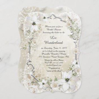 bridal shower invitation,winter wonderland,bracket invitation