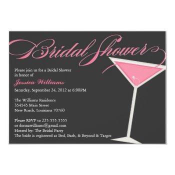 bridal shower martini invitation