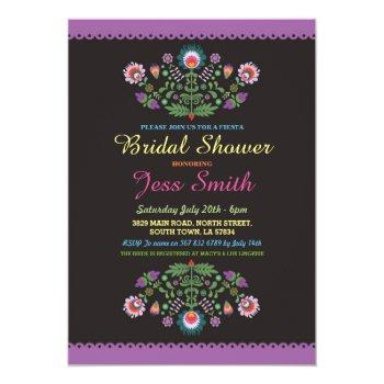 bridal shower party fiesta mexican floral invite