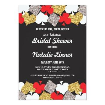bridal shower party las vegas casino royale invite