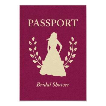 bridal shower passport invitation