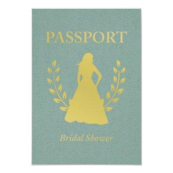 bridal shower passport invitations