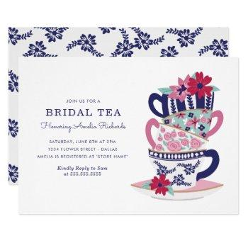 bridal shower tea cups invitation