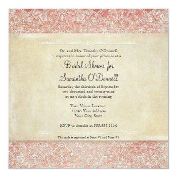 bridal shower vintage french regency lace invitation