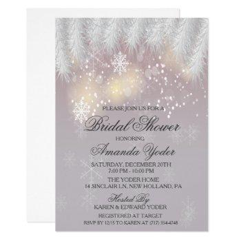 bridal shower winter snowflake invitation