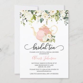 bridal tea bridal shower invitation - pink