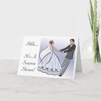 bridal/wedding shower invitation-it's a surprise invitation