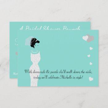 bride & bachelorette bridal shower party invitation
