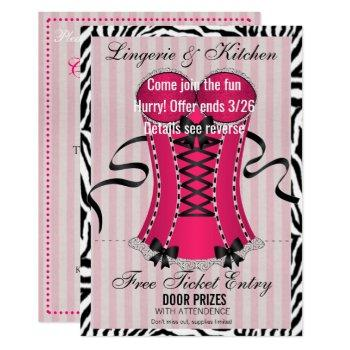 bride & bridesmaids lingerie pink shower party invitation